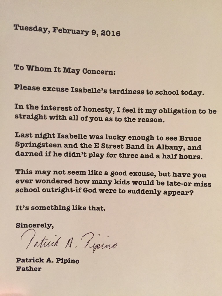 Local Dad of the Year Writes Absence Excuse Note After Bruce – Absence Note